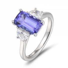 Tanzanite Ring 2.85ct in Platinum