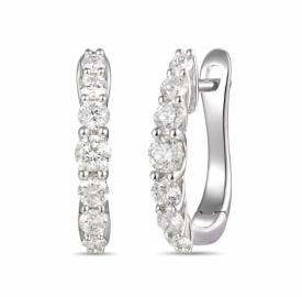 Diamond Claw Set Demi-Hoop Earring 0.57ct