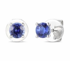 Blue Sapphire Solo Earrings 0.64ct