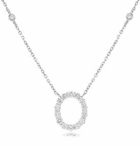Oval Shaped Diamond Pendant