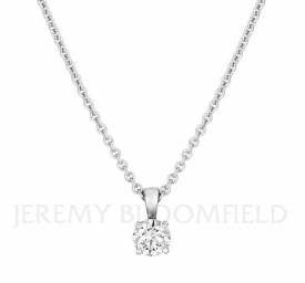 Classic Diamond Pendant 0.70ct GIA