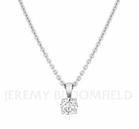 Classic Diamond Pendant 0.90ct GIA