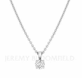 Classic 4-claw set Round Brilliant Pendant 0.60ct G VS1 GIA certified in 18ct White Gold