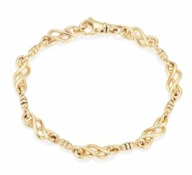 Handmade 9ct Celtic Twist Link Bracelet
