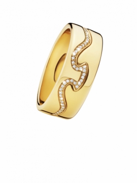 FUSION 2-piece Yellow Gold Ring with Diamonds - 0