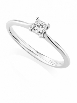 Platinum Princess Cut Ring - 0