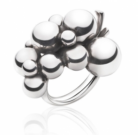 Moonlight Grapes Large Grapes Ring In Silver