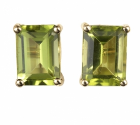 Peridot Earrings in 18ct Yellow Gold