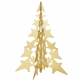 Christmas Collectibles 2021 Table Tree 18ct Gold-Plated Stainless Steel, Medium at Jeremy Bloomfield