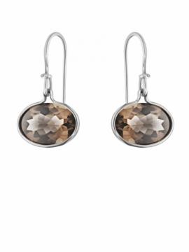 SAVANNAH Smokey Quartz Earrings - 0