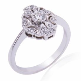 Diamond Lozenge Ring 0.25ct