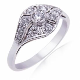 Diamond Troposkein Ring