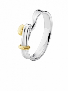 TORUN Ring with Gold Detail - 0