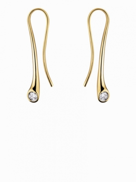 MAGIC Longer Earrings with Diamonds - 0