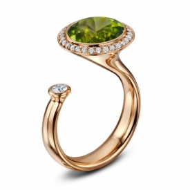 Satellite Peridot Ring