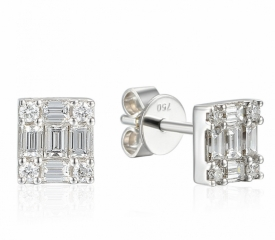 Diamond Square Illusion set Earrings
