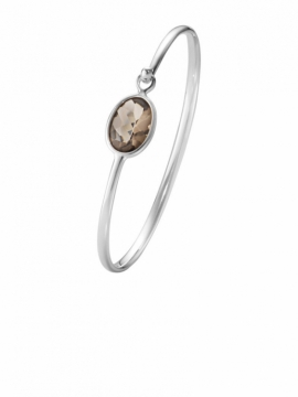 SAVANNAH Smokey Quartz Bangle - 0