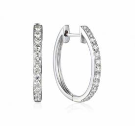 Diamond Claw Set Demi-Hoop Earring 0.67ct