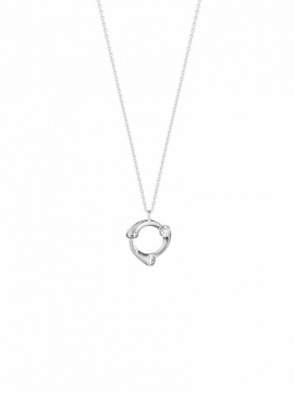 MAGIC Circle White Gold & Diamond Pendant - 0