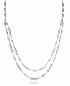 Rubover Diamond Droplets Necklace in 18ct White Gold