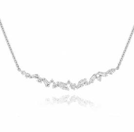 Diamond Splash Necklace in 18ct White Gold