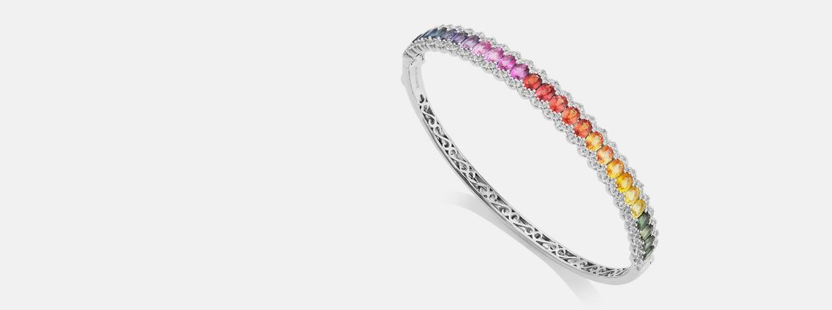 Sheldon Bloomfield Multi-coloured Sapphire jewellery at Jeremy Bloomfield
