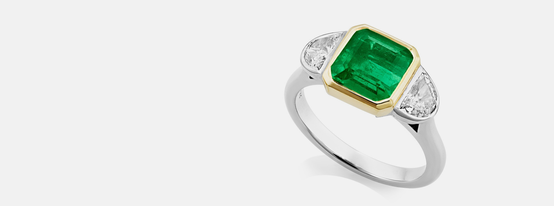 Art Deco STYLE EMERALD RING from Sheldon Bloomfield